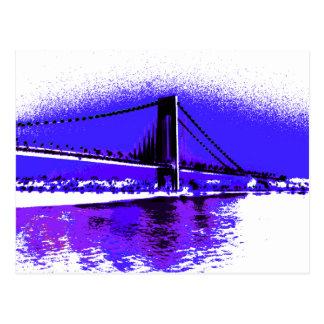 Violet Verrazano Bridge postcard