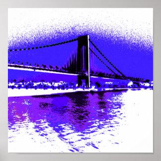 Violet Verrazano Bridge print