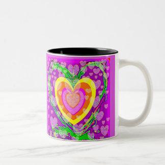 Violet Vibrations Two-Tone Coffee Mug