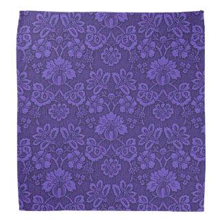 Violet Vintage Damask Bandana