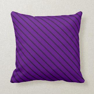 Violet Vintage Stripes Art Design Abstract Cushion