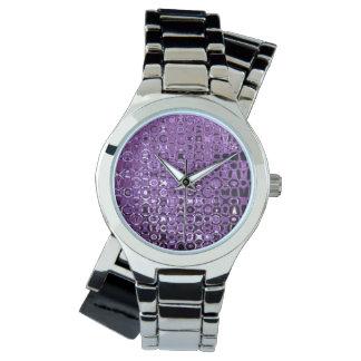 Violet Vortex Women's Wraparound Silver Watch
