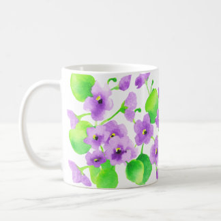 Violet watercolor Decorative Flower Pretty Classic Coffee Mug