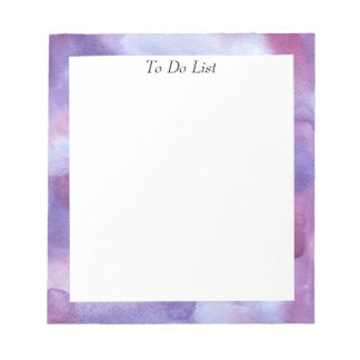 Violet Watercolor Notepad