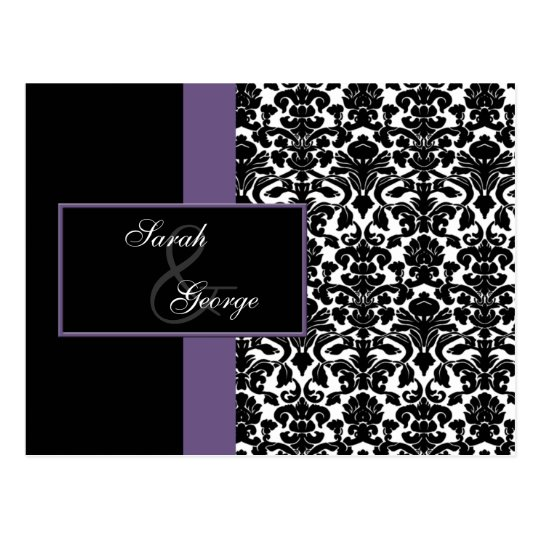violet Wedding rsvp card