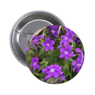 Violet Weeds 6 Cm Round Badge