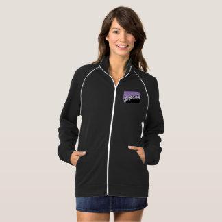 Violet, white and black fractal. jacket