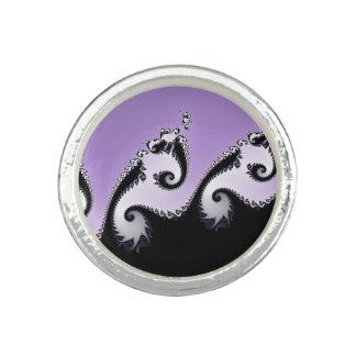 Violet, white and black fractal. ring