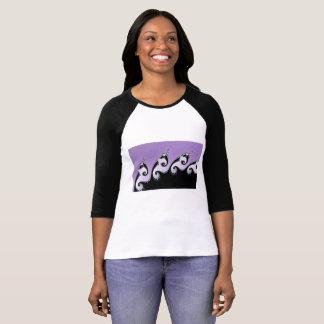 Violet, white and black fractal. T-Shirt
