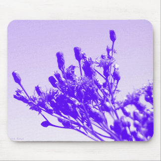 Violet Wildflower Mouse Pad