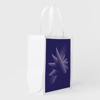 Violet wings reusable grocery bag