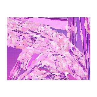 """Violet Woodland"" abstract, Lavender, Purple Canvas Print"