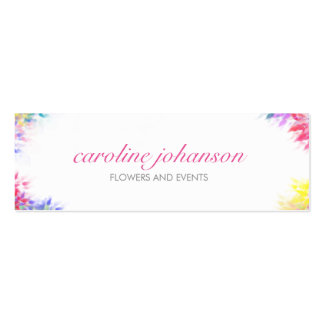 Violet yellow artistic painting brush flowers card