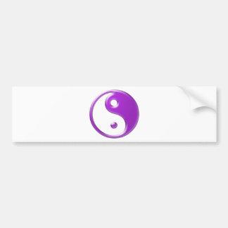Violet Yin Yang Bumper Sticker