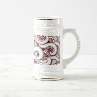 Violets Abstract Design Stein 18 Oz Beer Stein