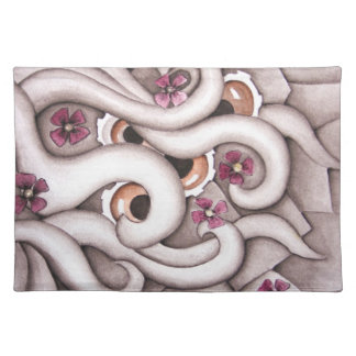 Violets Abstract Floral Placemat