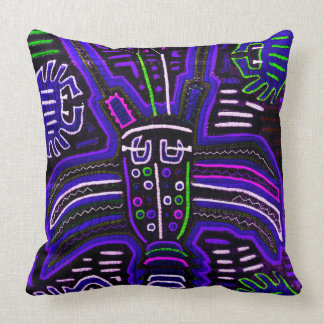 Violets and blues Mola pillow
