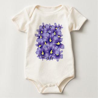 Violets Baby Bodysuit