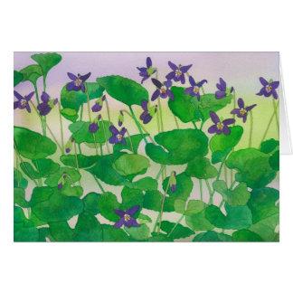 Violets Card