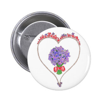 Violets For My Love 6 Cm Round Badge