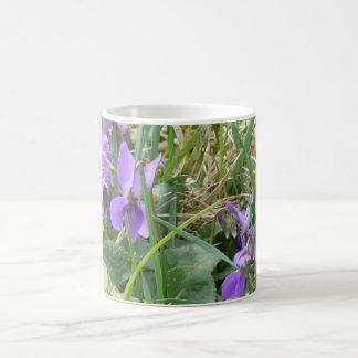 Violets in Grass 2 Coffee Mug