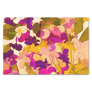 Violets in the sun 10lb Tissue Paper, White Tissue Paper
