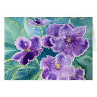 "'Violets"" note cards"