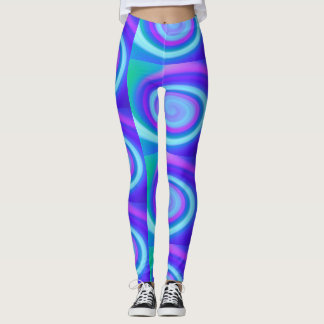 Violets & purples in spirals leggings