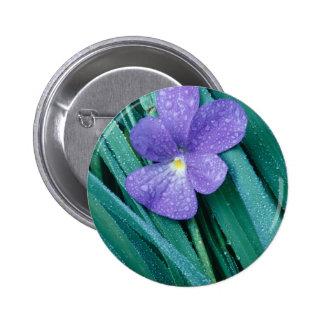 Violets R Blue 6 Cm Round Badge