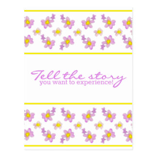 Violets - Tell the story you want to experience! Postcard