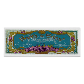 Violette de Cannes vintage French soap label Poster