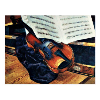 Violin, 1916 painting by Petrov-Vodkin Postcard