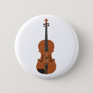 Violin: 3D Model: 6 Cm Round Badge