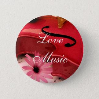 Violin 6 Cm Round Badge