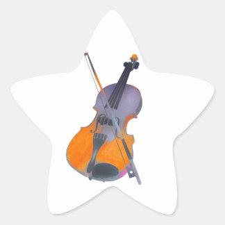 Violin, Abstract Art, Modern Art, Contemporary Art Star Stickers