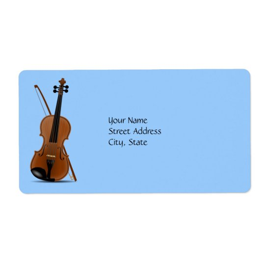 Violin and Bow Shipping Label
