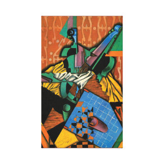 Violin and Checkerboard by Juan Gris Canvas Print