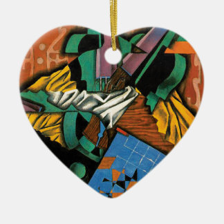 Violin and Checkerboard by Juan Gris Ceramic Ornament