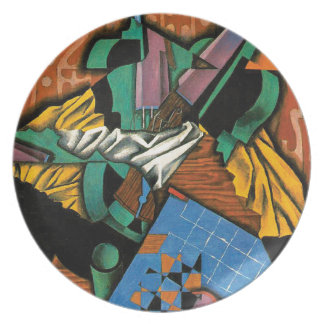 Violin and Checkerboard by Juan Gris Plate