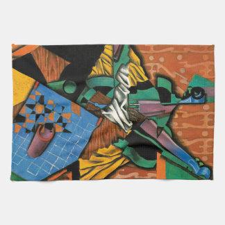 Violin and Checkerboard by Juan Gris Tea Towel