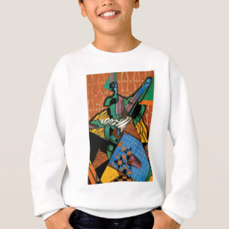 Violin and Checkerboard Sweatshirt