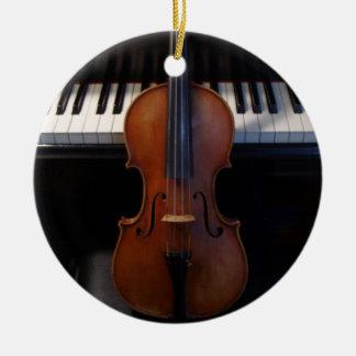 Violin and Keyboard Holiday Ornament