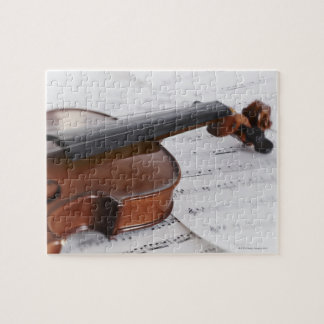 Violin and sheet music jigsaw puzzle