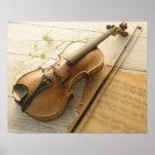 Violin and Sheet Music Poster