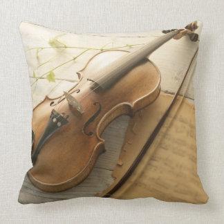 Violin and Sheet Music Throw Pillow