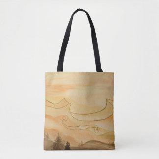 Violin Art Tote Bag - Original Watercolor Art