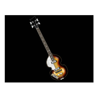 Violin Bass Guitar Postcard