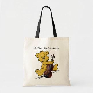 VIOLIN BEAR-BAG TOTE BAG