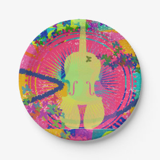Violin Birthday Party Decorations-Paper Plate