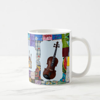 VIOLIN-BLUEGRASS BAND-QUILTED COFFEE MUG
